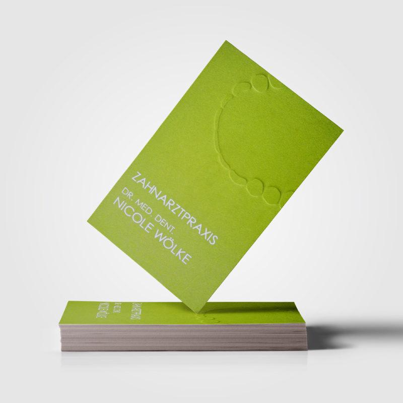 Corporate Design Zahnarzt Wölke Werbeagentur Erfurt Covermade