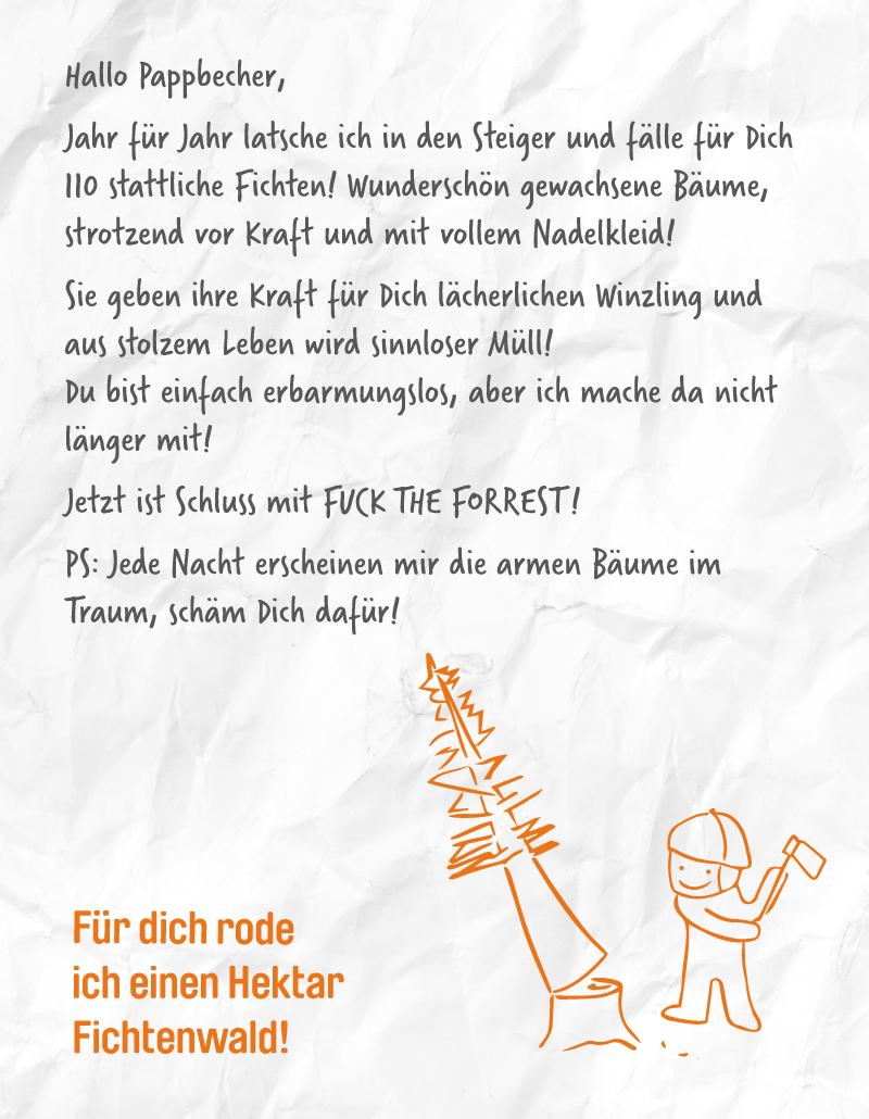 covermade Kampagne Nicht von Pappe